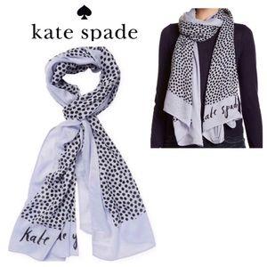 Kate Spade Polka Dot Wrap Scarf NWT